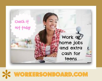 Work at home jobs for teens