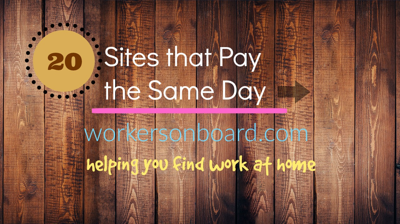 sites that pay daily