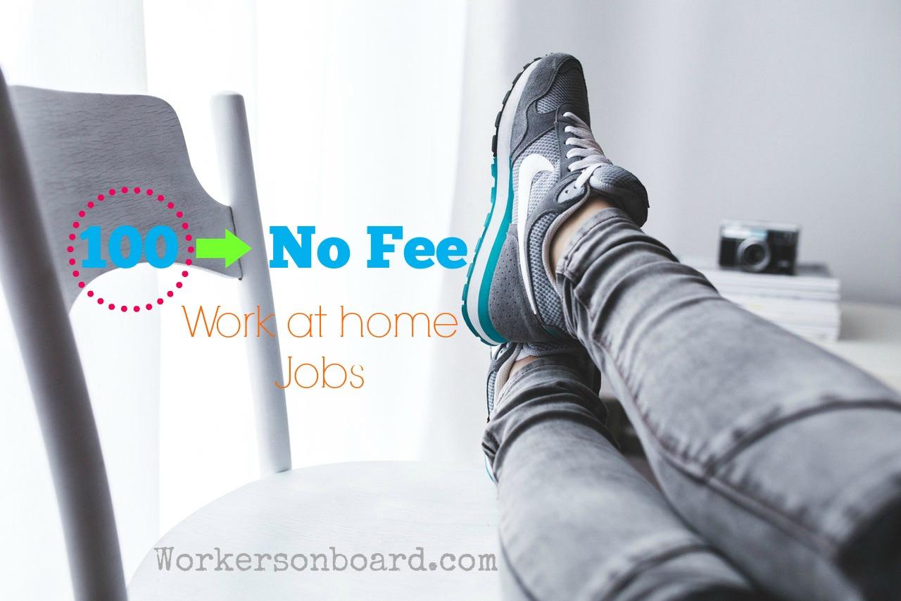 No fee work at home jobs