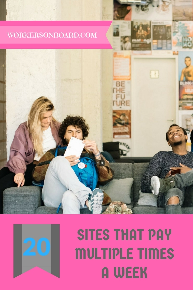 20 sites that pay multiple times a week
