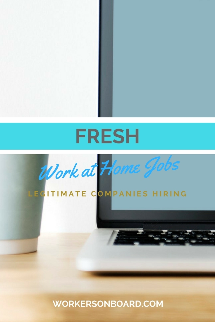 fresh legitimate work at home job leads