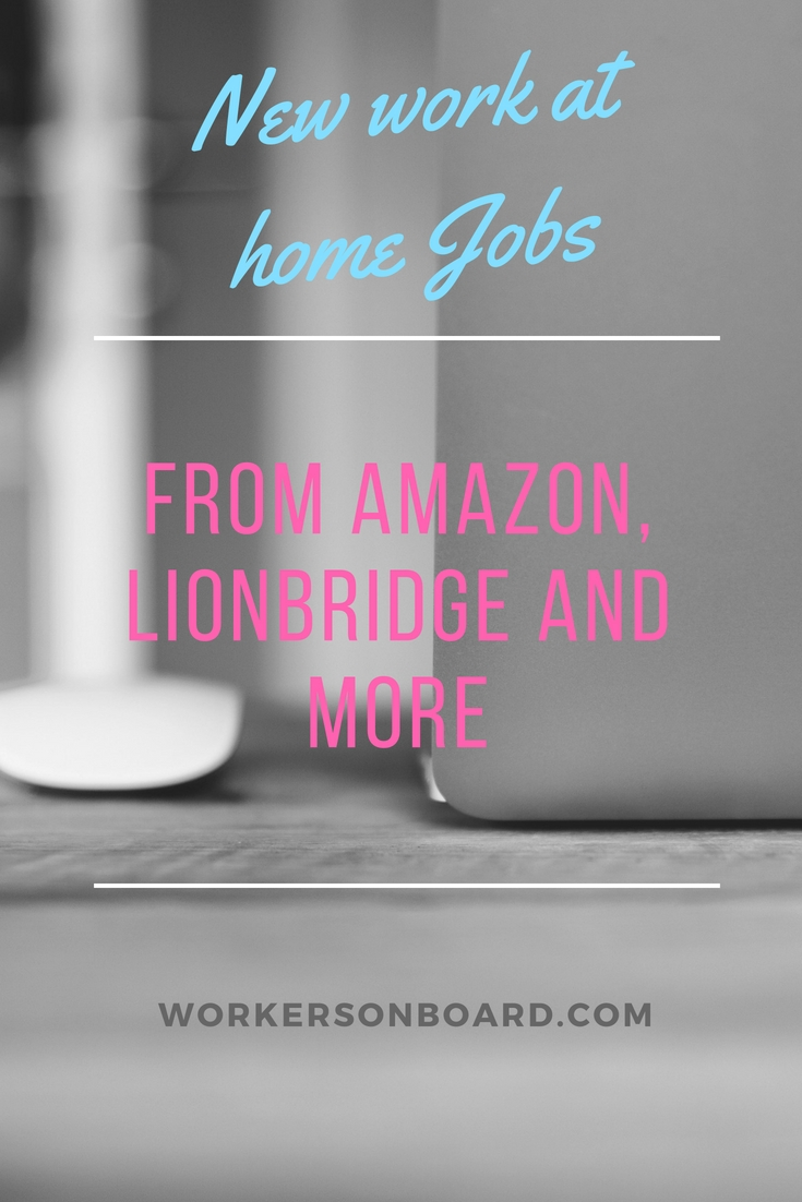 amazon job openings work from home new work at home jobs from amazon lionbridge and more 6300